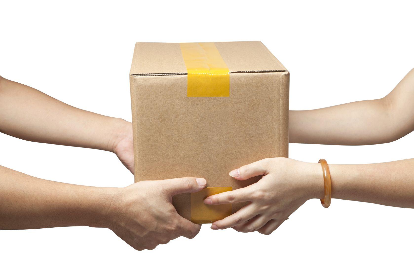 Paketübergabe