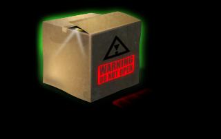 Karton mit Gefahrengut