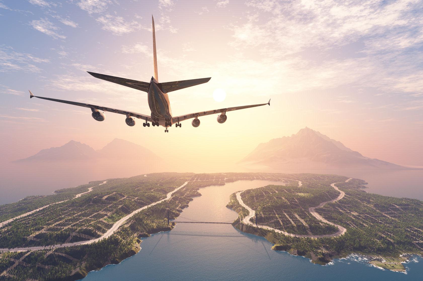 Flugzeug liefert per Luftpost aus